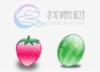 诱人鲜嫩水果图标下载