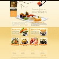 美食网站PSD模板素材