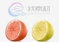 可口香橙水果图标下载
