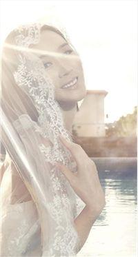 美女杨菲菲超级新娘手机桌面壁纸