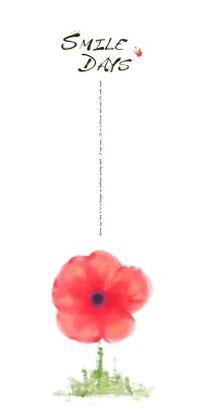 水彩花卉装饰背景图PSD
