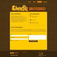 起司主题网站PSD模板