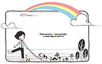 彩虹手绘卡通矢量素材
