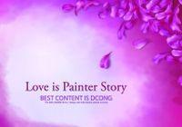 浪漫花瓣装饰背景图PSD