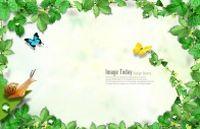 绿色藤蔓装饰背景图源文件