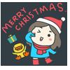 熊泥泥家族圣诞表情包