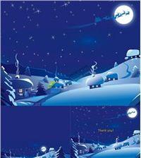 圣诞夜圣诞老人鹿车月亮ppt模板大全