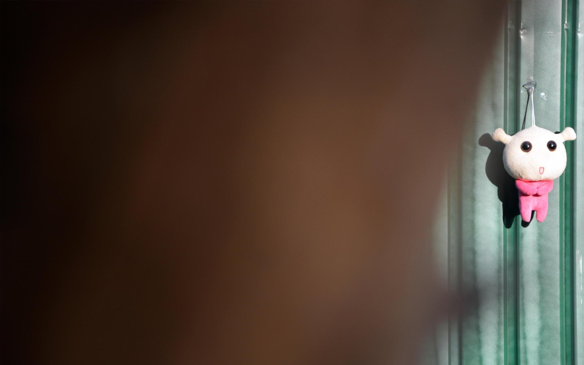 毛绒蜗弟公仔摄影高清壁纸
