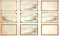 古典花纹边框矢量素材