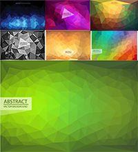 抽象三角形背景矢量素材