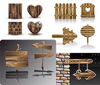 创意木质招牌矢量素材