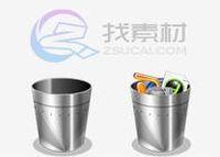 银光超质感垃圾桶图标