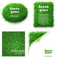 绿色草坪背景矢量素材