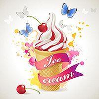 甜筒冰淇淋矢量素材