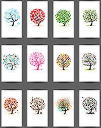 创意树卡片矢量素材
