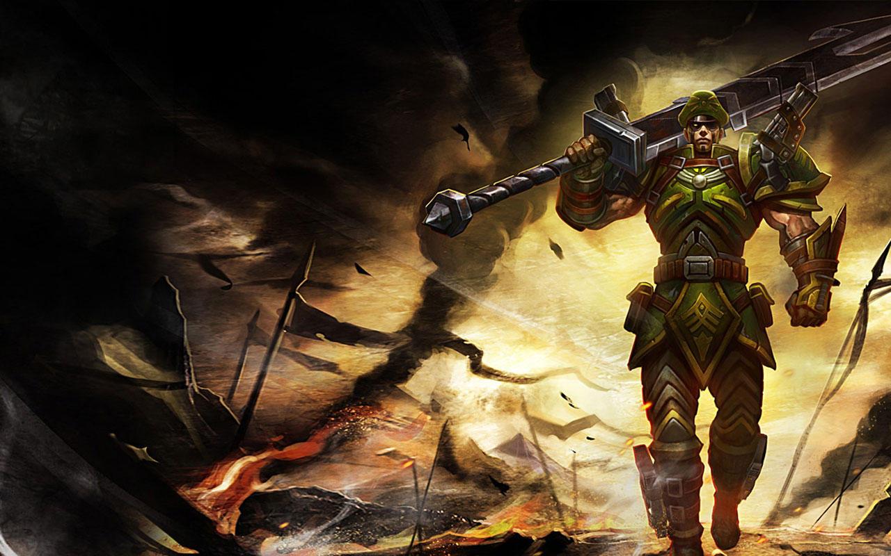 lol英雄联盟德玛西亚皇子游戏宽屏壁纸高清 高清图片