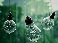 雨中的灯泡图片下载