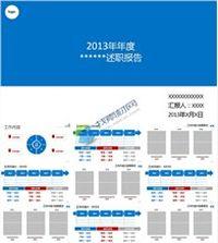 2013年年终总结述职报告ppt模板免费下载