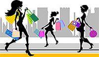 购物女人矢量素材