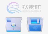 蓝色水晶系统图标专辑