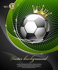 巴西世界杯足球宣传海报矢量素材下载