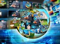 蓝色科技地球互联网高清图片下载