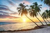 夕阳下的大海风景高清图片下载
