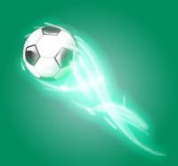 飞速划过的足球矢量素材下载