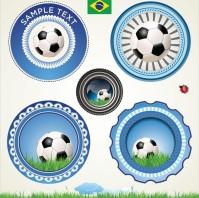 足球图标巴西logo齿轮矢量素材下载