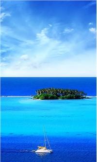 蓝色海洋高清小米手机壁纸