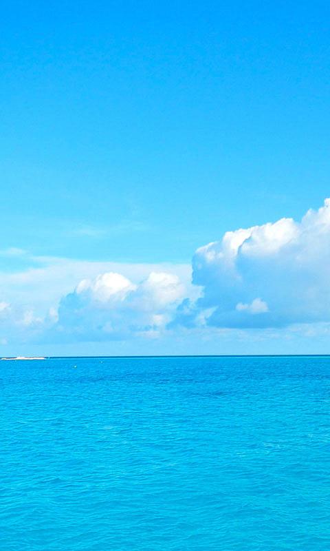 蓝色海洋高清苹果手机壁纸