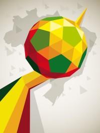 几何形状足球矢量素材下载