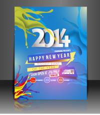 2014新年海报矢量素材下载
