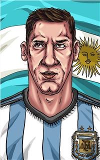 世界杯球员教练漫画苹果安卓手机壁纸