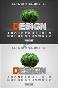 双色系欧美风格DESIGN设计ppt模板大全