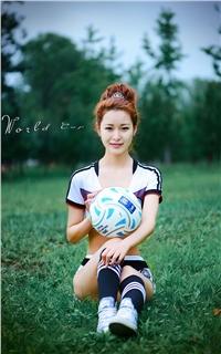足球宝贝清纯写真手机壁纸大全