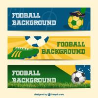 横条足球世界杯广告矢量素材下载