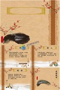 古韵中国风静心修性梅花香ppt素材免费下载