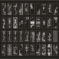 黑底白色花纹图标系列矢量素材下载