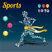 创意运动员跑步图片矢量素材下载