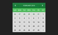 国外网站抠下来的jquery日历