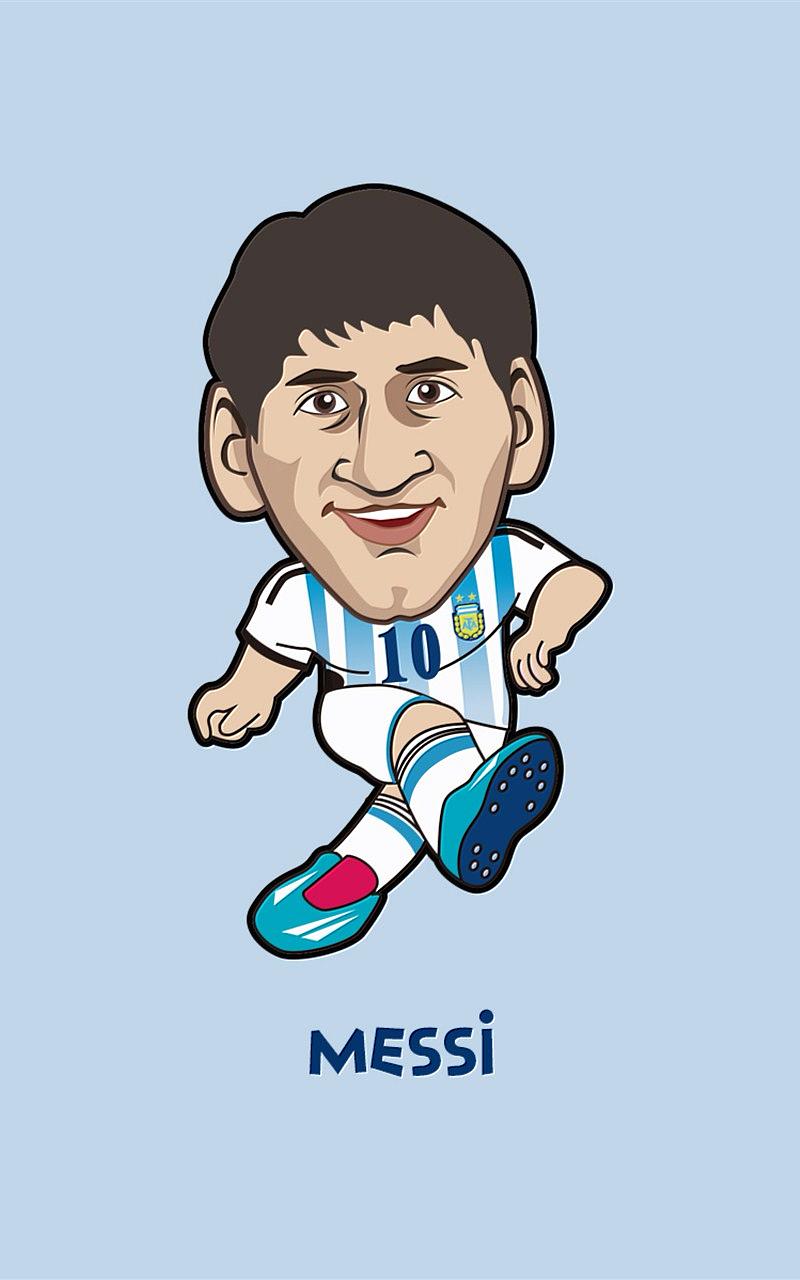 2014世界杯卡通人物手机桌面壁纸