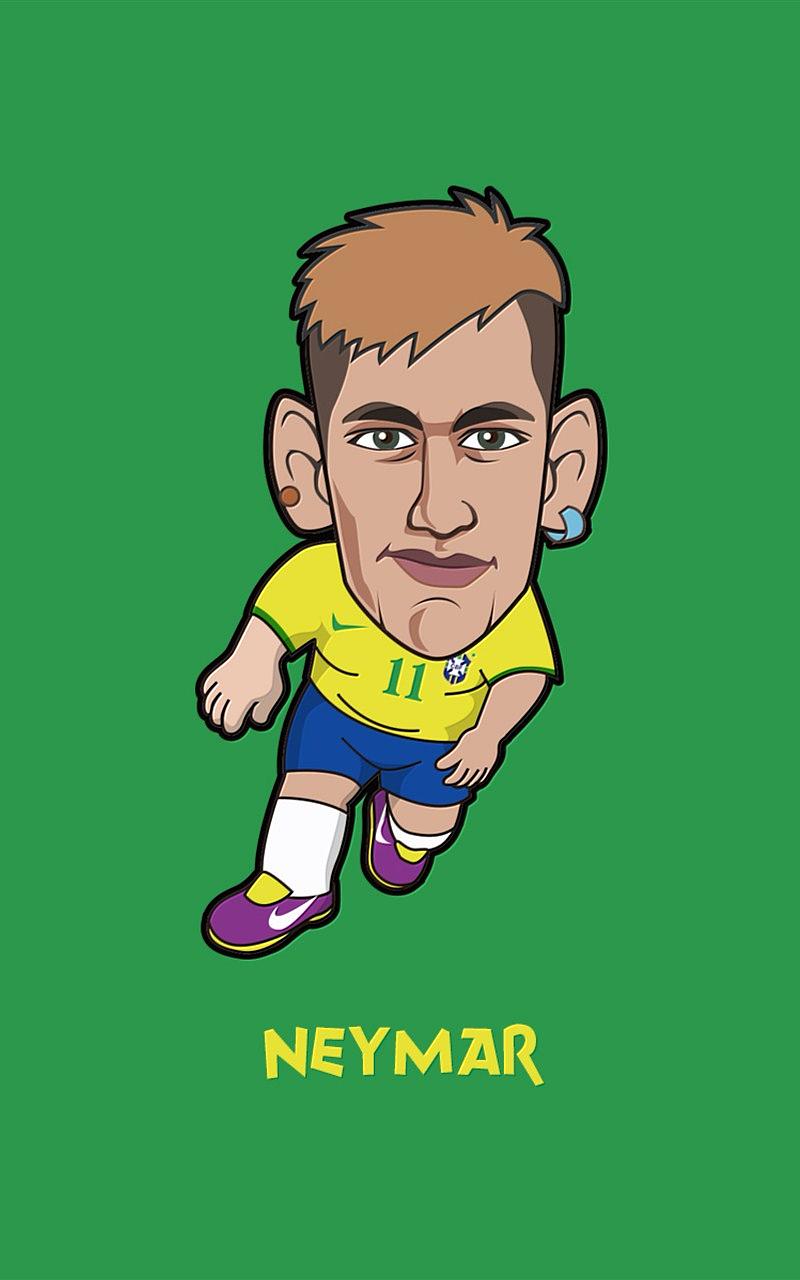 2014世界杯卡通人物手机壁纸