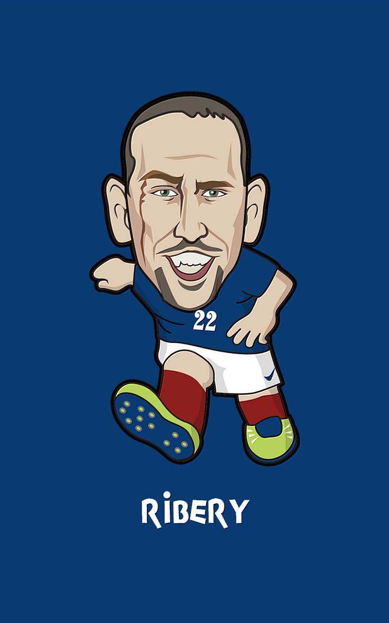 2014世界杯卡通人物手机壁纸下载
