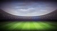 宽敞绿茵足球场高清图片下载