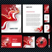 激情红色卡片信封光盘封面矢量素材下载