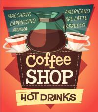 潮流咖啡店广告图标矢量素材下载