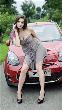 乌克兰美女模特时尚手机桌面