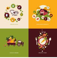 卡通蔬菜食物图标矢量素材下载