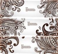 欧式花纹底纹横幅矢量素材下载
